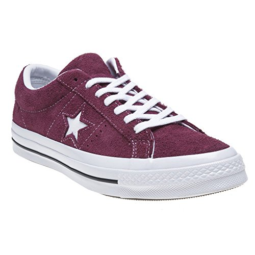 Converse Unisex-Erwachsene Lifestyle One Star Ox Suede Fitnessschuhe, Rot (Deep Bordeaux/White/White 625), 41.5 EU -