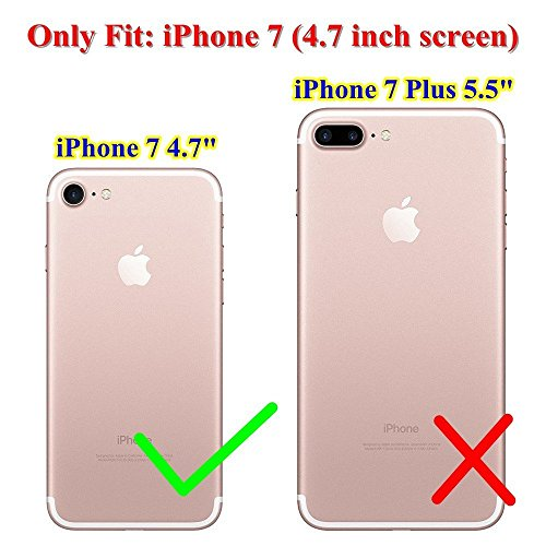 Coque iPhone7,Vanki® Housse Transparente iphone Etui Silicone ,Flexible Lisse Housse TPU Souple Etui de Protection Silicone Case Soft Gel Cover Anti Rayure Anti Choc pour Iphone7 4.7Inch 6