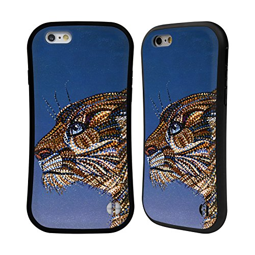 Ufficiale Erika Pochybova Maiale Animali Case Ibrida per Apple iPhone 6 / 6s Puma