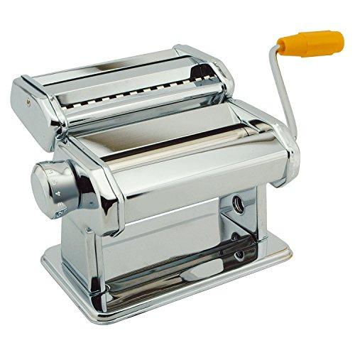 Top Home Solutions® 3 In 1 Stainless Steel Pasta Lasagne Spaghetti Tagliatelle Maker Machine Cutter (Silver)