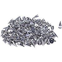 SODIAL(R) 100X Apliques Remaches 14mm Plateado Bala Tachuelas Bolsa/Calzado/Guante
