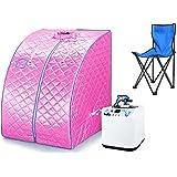 Saunas portátil infrarrojos Spa silla 1200W Rosa flyelf