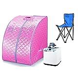 Infrarot Sauna tragbar Spa Stuhl 1200W Pink flyelf
