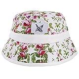 Blackskies Blossom Bucket Hat Unisex Sonnenhut Fischerhut Weiß mit Blumenmuster
