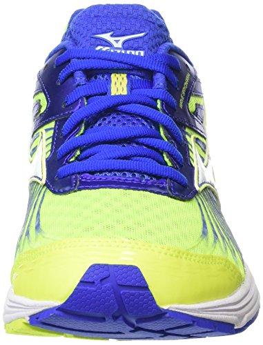 Mizuno Herren Wave Sayonara 4 Laufschuhe Gelb (Safety Yellow/White/Dazzling Blue)