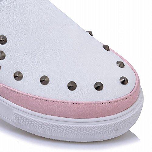 Mee Shoes Damen mit Nieten runde Geschlossen Pumps Pink