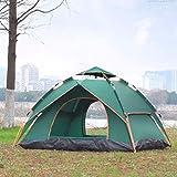 AYLS Zelt Family Easy Zelte Outdoor Camping 2-4 Personen Wandern Zelt Schlaf Wasserdicht Belüftete Pavillon Markise Zu jeder Jahreszeit,Green