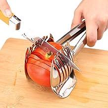 Uten Cortador de tomate para cortar tomates, patatas, cebollas, acero inoxidable