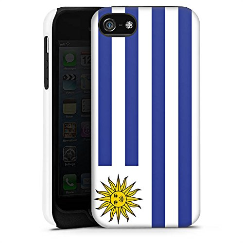Apple iPhone X Silikon Hülle Case Schutzhülle Uruguay Flagge Fußball Tough Case matt
