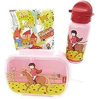 Preisvergleich für Sigikid Brotdose und Trinkflasche Pferd Pony Sue Geschenkset für Kindergartenkinder oder ABC Schützen I inkl.Geschenkverpackung