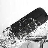 Hunpta Wasserdichte Außensäule Lautsprecher Drahtlose Bluetooth Lautsprecher Subwoofer Sound Unterstützung FM Radio TF MP3 Player Handy (Schwarz)