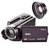 Videokamera Camcorder, Ablue 4K Ultra-HD 30FPS Kamera, 16X Digitale Zoom Full HD Wifi Cmacorder, 3.0 Zoll Display [Berührungsempfindlicher], IR...