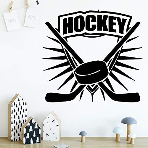 SLQUIET Kundengerechte Hockey-geschützte Vinylaufkleber für Babyraumaufkleberwandbilder-Wandaufkleberausgangsdekorwandaufkleber-Art und Weiseaufkleber Rosa L 43cm X 46cm