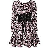 BEZLIT Mädchen Kinder Spitze Kleid Peticoat Fest Kleider Langarm 21639 Rosa Größe 104