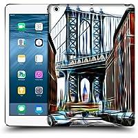 Ufficiale Haroulita New York Brooklyn Bridge Luoghi 2 Cover Retro Rigida per Apple iPad Air