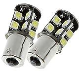 2x Stück 24V XENON WEISSE Soffitten 24Volt für LKW LED mit POWER- SMD Anzahl nach Wahl. Jurmann ® (2x BA15S - 19xSMD)