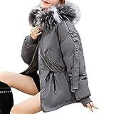 iHENGH Vorweihnachtliche Karnevalsaktion Damen Herbst Winter Bequem Mantel Lässig Mode Jacke Frauen Winter warme Dicke Oberbekleidung Kapuzenmantel schlanke Baumwolle gefütterte Jacke
