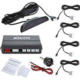 KKmoon - Sistema de aparcamiento con radar, incluye 4 sensores de coche, color blanco