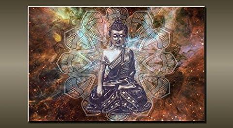 Grande abstraite Bouddha sur toile murale Photo Flash Art 30'20' 0375