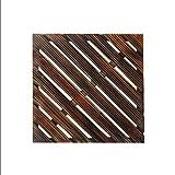 Floor GY Terrassen- & Balkonfliesen Holzboden, Terrasse Gartenterrasse Holz Massivholzmosaik Boden, Massivholz selbst gepflanzt quadratischen Boden Innenbalkon Badezimmer Holz rutschfeste DIY Boden