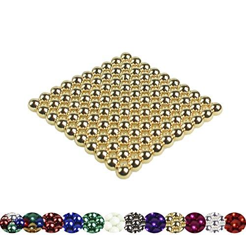 VIELE Varianten: 100 Magnetkugeln 5mm für Whiteboard, Magnettafel, Kühlschrank (Gold)