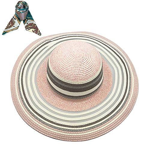 SIYWINA Strohhut Damen Sonnenhüte UV Frauen Hut Strandmütze Sommer Strand Kappe Wide Rand Outdoor Aktivitäten (Frauen-sommer-hüte)