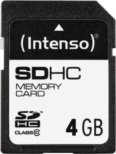 Intenso SDHC 4GB Class 10 Speicherkarte schwarz (Flash 4-gb-sd)