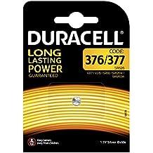 Pile oxyde d'argent Duracell spéciale 376/377-1,55V, pack de 1 (SR66/SR626/V377/V376/SR626W/SR626SW) conçue pour une utilisation dans les montres, calculatrices et dispositifs médicaux