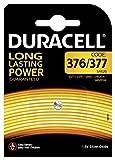 Duracell 377/376 - Pilas especiales de óxido de plata de 1.55V, SR66/SR626/V377/V376/SR626W/SR626SW, diseñadas para su uso en relojes, calculadoras y dispositivos médicos, paquete de 1 unidad