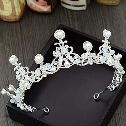 (LUCKY CLOVER-A Perle Tiara, Silber Kristall Braut Krone Mode Königin Hochzeit Krone Kopfschmuck Hochzeit Haarschmuck Zubehör Großhandel)
