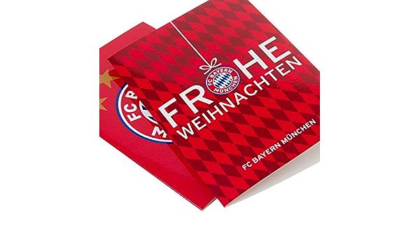 FC Bayern München Karten-Set Frohe Weihnachten// Logo