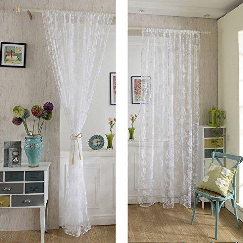kinlo-tenda-a-pannello-in-voile-145245cm-motivo-bianco-peonia-floccaggio-1-pezzo-colore-trasparente-