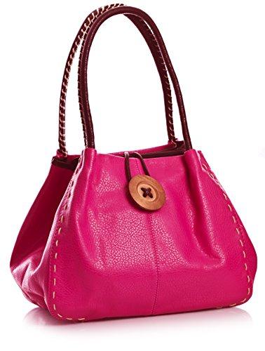 Big Handbag Shop, Borsa a spalla donna One Rosso (rosso)
