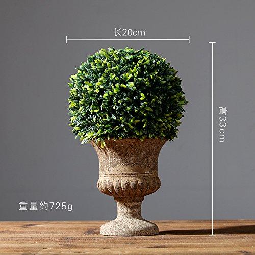 Preisvergleich Produktbild WANG-shunlida Unechte Blumen Simulation der Anlage Fake Topfpflanze Inneneinrichtung Pflanzen Wohnzimmer Dekoration Wohnungseinrichtung kreative Dekorationen,  D