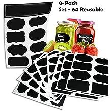Inventive Choice lables-002-84 - Etiquetas reusables, color negro