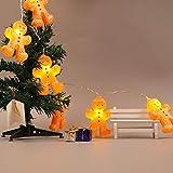 Prevently LED Cartoon Bösewicht Lichterkette für innen und außen,Batteriebetrieben Weihnachtslichterkette für Weihnachtsbeleuchtung, Balkon, Außen Deko, Innen 1.2m10led 2.5m20led (1.2m10led)