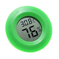 VEVICE 1PCS Mini Digital Temperature Humidity Meter Gauge Thermometer Hygrometer Waterproof LCD Degree Centigrade Display for Indoor Outdoor (Green)