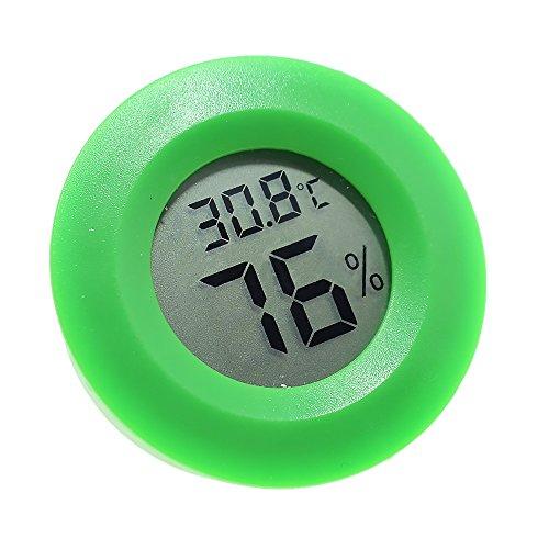 CTGVH Digitales Hygrometer-Thermometer, Mini-runde Form, für Innen- und Außenbereich, elektronisch, Luftfeuchtigkeit, Temperatur, Thermometer mit LCD-Display für Zuhause, Büro, Zimmer, Reptilien