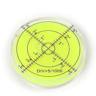 Vinallo 66x10mm Green Precision Bubble Spirit Level Circular Disc Measuring Tool