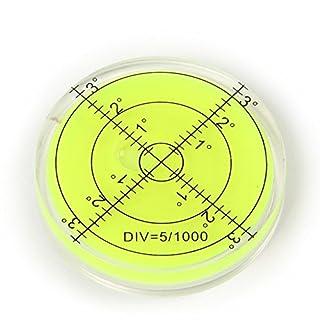 Vinallo 66x10mm Green Precision Bubble Spirit Level Circular Disc Measuring Tool