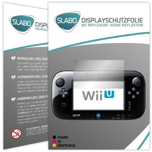 """2 x Slabo Displayschutzfolie Nintendo Wii U (Controller) Displayschutz Schutzfolie \""""No Reflexion Keine Reflektion\"""" MATT - Entspiegelnd MADE IN GERMANY"""