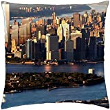 """NEW YORK SKYLINE FREEDOM TOWER - Throw Pillow Cover Case (18"""" x 18"""")"""