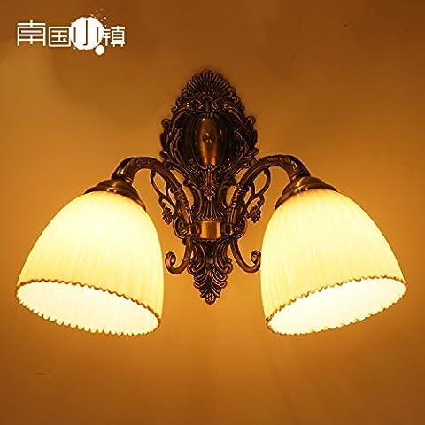 XiangMing Lámparas de pared lámparas chapado de hierro continental pasillo hall de entrada iluminación espejo tocador luz delantera cubierta de luz de alta temperatura de