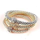 YGYSZJ Armbänder 3 Teile/Satz Kristall Metall Armbänder & Banglespendant Strass Armband Frauen