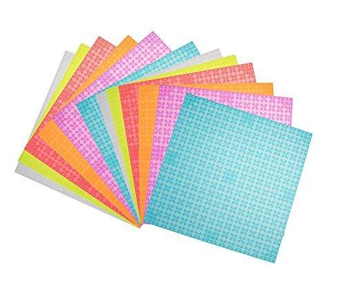 Strictly Briks - Pack de 12 bases para construir - Compatibles con todas las grandes marcas - 15,24 x 15,24 cm - Morado, naranja, rojo, azul, verde y transparente