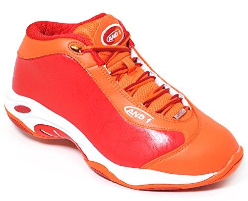 AND1 , Herren Basketballschuhe rot rot