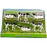 Kühe Bauernhoftiere Tiere Kuh Bauernhof Spielzeug Zubehör Kids Globe Farming