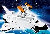 Modbrix Bausteine Raumschiff Discovery Space Shuttle inkl. Hubble Weltraumteleskop und Astronaut Minifigur