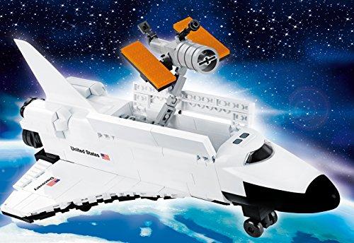 Modbrix Ladrillos nave espacial Discovery Space Shuttle Incluye Hubble espacial telescópico, Original NASA licencia