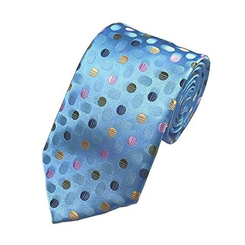 Z-P Mens Color Dot Luxury Elegant Necktie Knit Woven Jacquard Skinny Tie